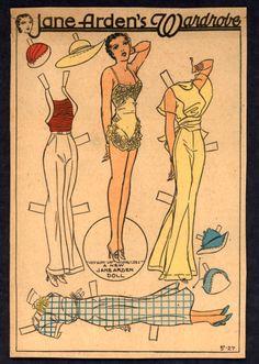 5-27-30's Jane Arden paper doll / eBay