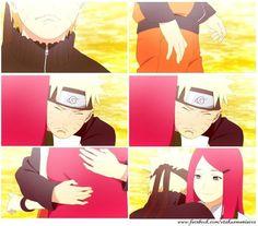 Naruto and his mother, Kushina. ^^