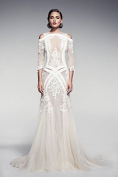 Designer Crush: Pallas Couture! - Munaluchi Bridal Magazine | some things about this i like and others i don't.... i love it and hate it at the same time....