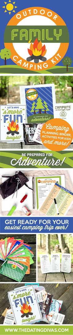 A DIY kit that makes a family camping trip easy and stress free! Love the checklists and fun activities for kids! www.TheDatingDivas.com