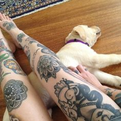 Haven't been a fan of leg tattoos until now... seriously considering