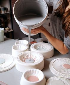 Inlaid Slip Casting – Ceramic Arts Network – Famous Last Words Ceramic Studio, Ceramic Clay, Ceramic Painting, Ceramic Bowls, Ceramic Workshop, Ceramic Jewelry, Ceramic Artists, Ceramic Techniques, Pottery Techniques