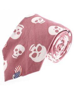 FLATSEVEN Mens Designer Cotton Skull Flag Pattern Neck Tie (YA010) Pink FLATSEVEN http://www.amazon.com/dp/B00KRBNKOU/ref=cm_sw_r_pi_dp_mhnlub1NVW62E