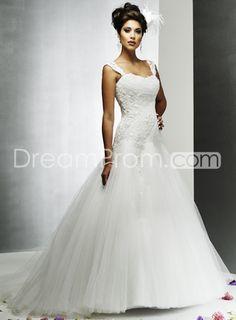 Ivory Embroidering Informal Wedding Dresses Chapel Train $195