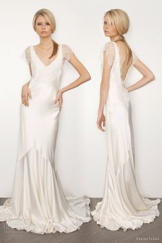 sarah janks 2013 bridal couture belinda silk sheath wedding dress sleeves