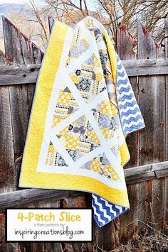 4-Patch Slice Free Pattern; 3 yard quilt that would be great for scraps