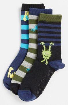Nordstrom 'Peeking Monster' Crew Socks (Toddler Boys & Little Boys) Toddler Underwear, Boys Underwear, Silly Socks, Boys Socks, Toddler Boy Haircuts, Toddler Boys, Sonus Festival, Leggings Outfit Fall, Toddler Leggings