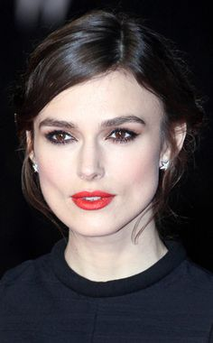 Keira Knightley from Daily Beauty Moment  Just a few days after she pulled off a dramatic smokey eye, the Jack Ryan actress wows with a tomato red statement lip. The color? Chanel Rouge Allure Luminous Intense Lip Colour in Incandescente.