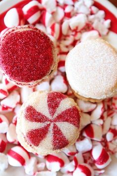 Sparkly Vanilla Bean Macarons with Three Christmas Inspired Frostings