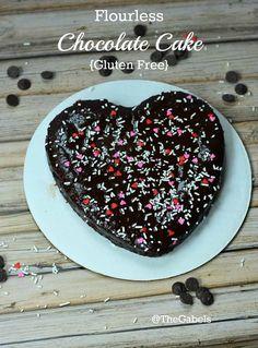 Flourless, Gluten Free Chocolate Cake! Make it Gluten Free and visit www.absolutelygf.com for more! #desserts #recipes #glutenfree