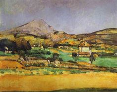 Paul Cezanne ~Plain by Mount Sainte-Victoire. 1882-85. Oil on canvas. The Pushkin Museum of Fine Art, Moscow, Russia