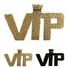 """Logo en paillettes """"VIP - Very Important Party"""" 22 cm"""
