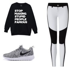 A fashion look from April 2016 featuring oversized boyfriend sweater, white and black pants and flat pumps. Browse and shop related looks. Boyfriend Sweater, Stupid People, Black Pants, Polyvore Fashion, Fashion Looks, Pumps, Clothing, How To Make, Sweaters
