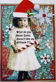 Naughty or nice Office Christmas, Christmas Cards To Make, Cozy Christmas, Christmas Humor, All Things Christmas, Vintage Christmas, Christmas Crafts, Christmas Ornaments, Art Trading Cards