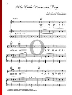 The Little Drummer Boy by Katherine Davis - Christmas Piano Sheet Music Christmas Piano Sheet Music, The Little Drummer Boy, Piano Music, Special Occasion, Songs, Traditional, Holiday, Vacations, Holidays