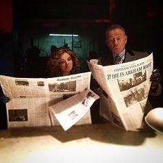 #Gotham is always in the news. : @seanpertwee #BehindTheScenes #SetLife