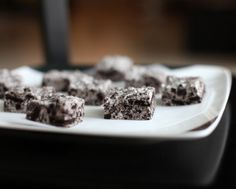 OREO BROWNIES!!  This is the BEST OREO recipe ever!!!! If ever the OREO could be improved upon, this is it!  I love for OREO's to stand alone and this recipe lets the OREO shine!  Do EXACTLY as the recipe says and you will have a FANTASTIC dessert!