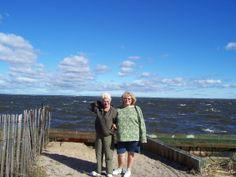 My sister and I on Fire Island, NY.