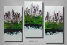 +Acrylbilder+Kleine+Stadt+Trio+#038+von+SoMa-Art+auf+DaWanda.com