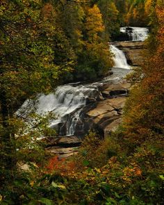 """Jeff Burcher Photography Triple Falls A few days a go I posted a photo of High Falls in Dupont State Forest in North Carolina. If you go downstream a ways you get to this monster of a waterfall, Triple Falls. This waterfall is featured in the movie, """"The Last of the Mohicans"""" in an early scene where Hawkeye is escorting the Colonels' daughters to the fort, shortly after they've been ambushed."""