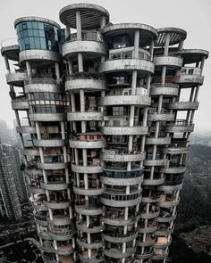 brutalism building in Guizhou, China Architecture Jobs, Futuristic Architecture, Residential Architecture, Vertical City, Googie, Brutalist, Landscape Photos, Abandoned, Scenery