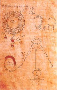 Marcianus Codex, Venice, 11th century, alchemy. / Sacred Geometry