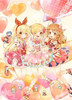 Pixiv Id 265099, Aikatsu!, Aikatsu Stars!, Kiriya Aoi, Nanakura Koharu, Shinjou Hinaki