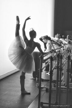 Pacific Northwest Ballet Dancer warming up before performing Diamonds | Angela Sterling