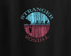 Stranger Things Netflix Sihoulette ET alien 80s Dustin Tee T-shirt