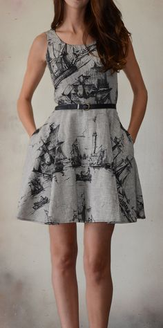 This is a nautical dress I could sport...