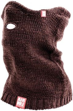 Airhole PULLOVER Snowboard Face Mask,  Unisex, K - Brown