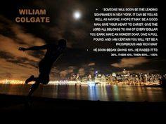 William Colgate...