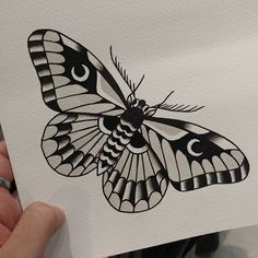 Tattooing by Mike Adams Traditional Butterfly Tattoo, Traditional Tattoo, Body Art Tattoos, Sleeve Tattoos, Cool Tattoos, Moth Tattoo Design, Tattoo Designs, Tattoo Sketches, Tattoo Drawings