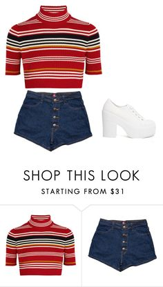 """""""Untitled #1180"""" by telletubbies ❤ liked on Polyvore featuring Alessandra Rich and Shellys"""