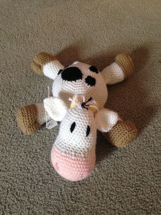 Ready to ship Cow stuffed animal. $50.00, via Etsy.