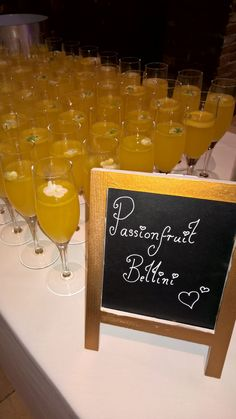 A delicious Passion fruit Bellini  @GGWeddings