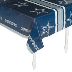 Hosting a football party or a Dallas Cowboys-themed birthday party? Party in style with this Dallas Cowboys Tablecloth! It is perfect for preventing messes on . Dallas Cowboys Birthday Cake, Dallas Cowboys Room, Cowboy Birthday Cakes, Cowboys Football, Dallas Cowboys Baby Shower Ideas, Birthday Party Tables, Boy Birthday Parties, 27th Birthday, Birthday Ideas