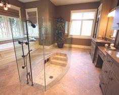 Sunken shower! Ahh AMAZING!