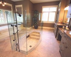 """Sunken Shower!"" love this!"