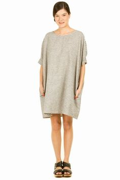 baggy linen dress