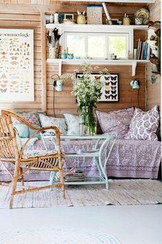 24 Farmhouse Home Decor To Copy Asap - Home Decoration Experts Estilo Cottage, Turbulence Deco, Bohemian House, Cozy Corner, Farmhouse Homes, Interior Design Inspiration, Home And Living, Living Room, Interior And Exterior