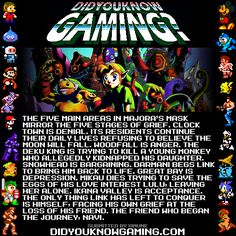 The Legend of Zelda: Majora's Mask. Edit: Massive update on this one. Some of the points before were incorrect. I encourage people to read the full article, for no other reason than it's a very interesting read.