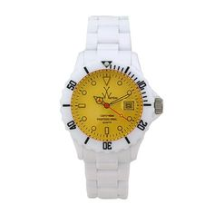 Men's Wrist Watches - Toy Watch Unisex FL01WHYL Crystal Plasteramic Watch >>> To view further for this item, visit the image link.