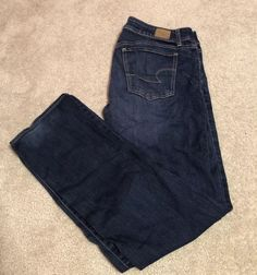 f34cc2258 American Eagle Straight Leg Jeans Size 12 Long  fashion  clothing  shoes   accessories