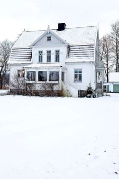 a Swedish winter wonderland home | style files