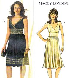 Butterick 4915 Maggy London Sleeveless Empire Waist by paneenjerez, $8.00