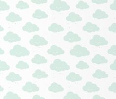 Wallpaper Clouds – White Mint
