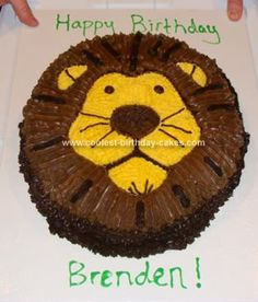 Homemade Lion Cake: I decided this year to take my kids cakes into my own hands. This lion cake was for my youngest son who was turning two. What I found, was that in planning