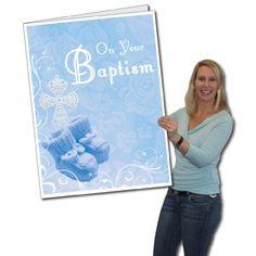 2'x3' Baptism Card W/Envelope (Boy Design) - Huge Greeting Card VictoryStore http://www.amazon.com/dp/B00CXXJ2XI/ref=cm_sw_r_pi_dp_Jfw.wb1FM7XSS