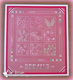Meadow grass plate and lace border Groovi card created by Jan Brown Hobbies And Crafts, Crafts To Make, Parchment Design, Parchment Cards, Lace Border, Card Sketches, Craft Patterns, Handmade Christmas, Making Ideas